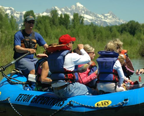 Scenic float on Snake River with the Tetons in the background