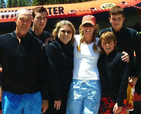 Family on a whitewater trip in Jackson Hole