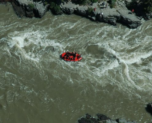 Rafting boat on Snake River