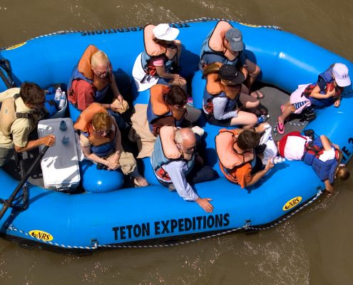 People on Snake River scenic float