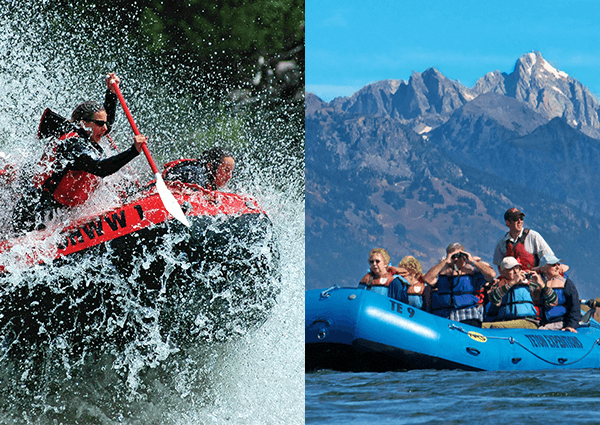 Whitewater and scenic combo packages