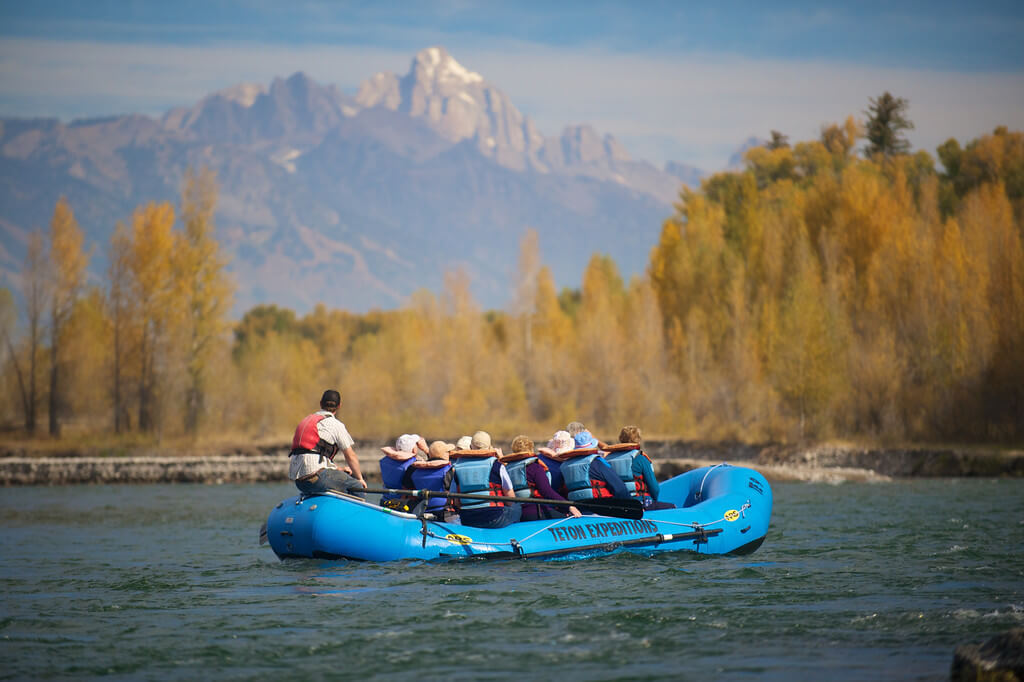 Grand Teton and floating on Snake River