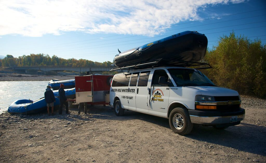 Jackson Hole Whitewater truck