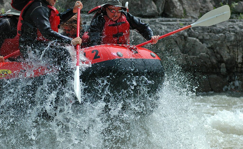 Rafting boat on an 8-mile whitewater trip