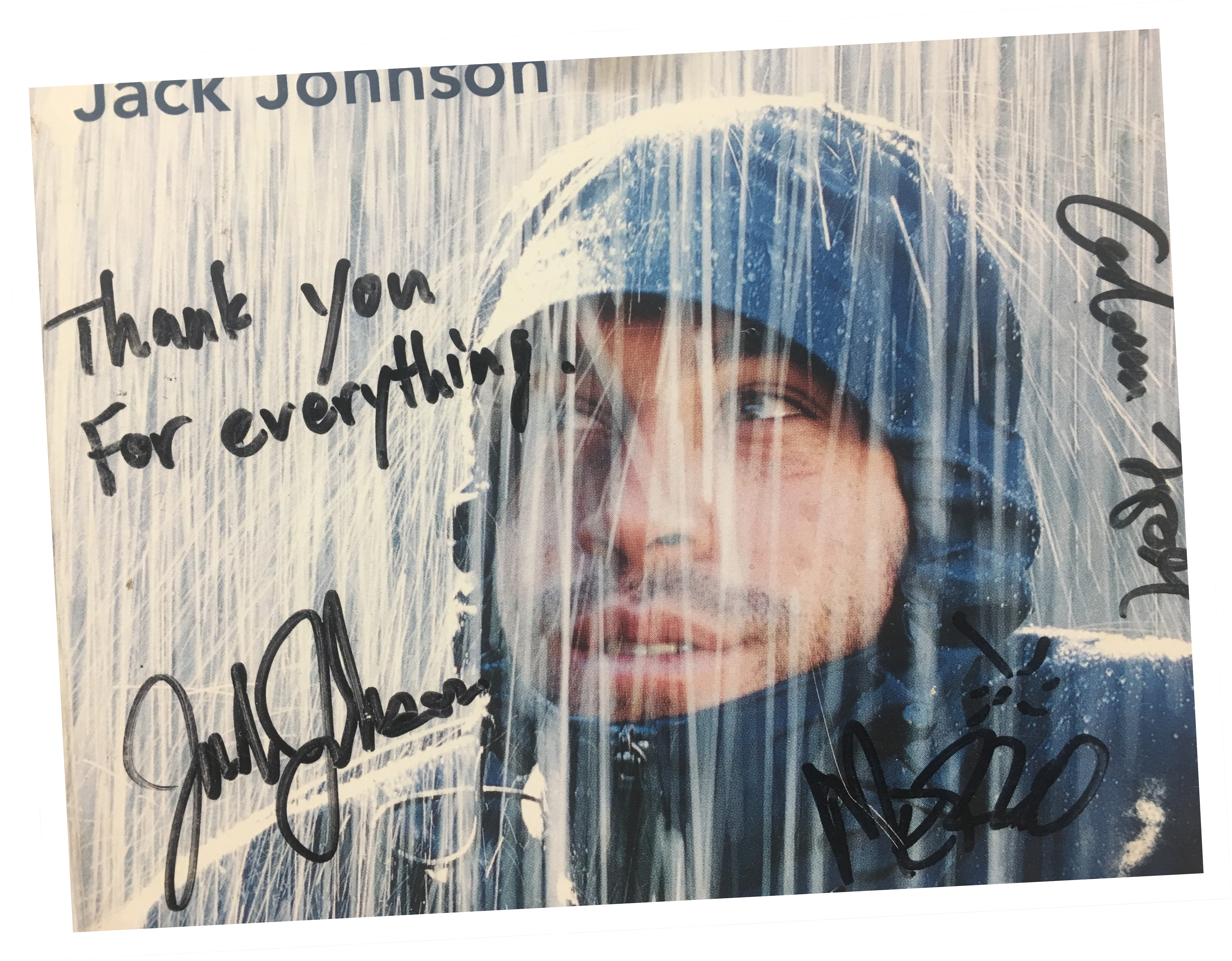 singer-songwriter Jack Johnson in front of Jackson Hole Whitewater building
